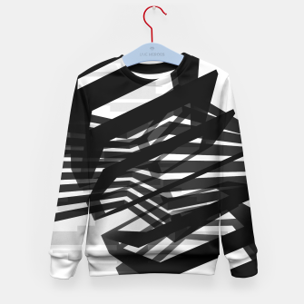 Thumbnail image of Black Prismatic  Kid's Sweater, Live Heroes