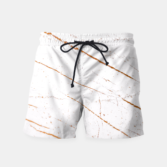 Thumbnail image of Rose Gold Marble Swim Shorts, Live Heroes