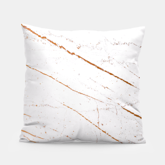 Thumbnail image of Rose Gold Marble Pillow, Live Heroes