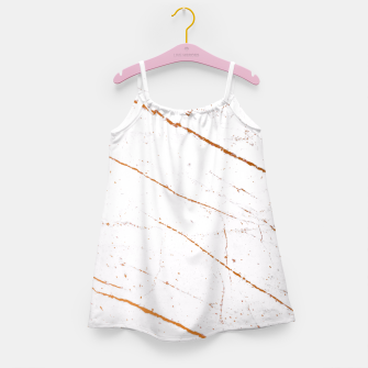 Thumbnail image of Rose Gold Marble Girl's Dress, Live Heroes