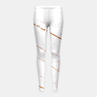 Thumbnail image of Rose Gold Marble Girl's Leggings, Live Heroes