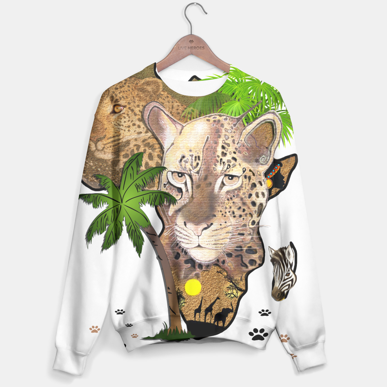 Image of Map of Africa Sweater - Live Heroes
