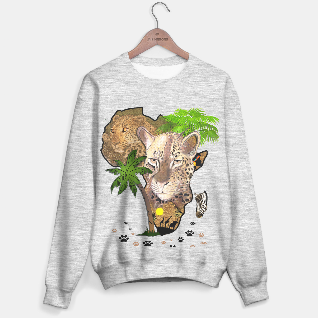 Image of Map of Africa Sweater regular - Live Heroes