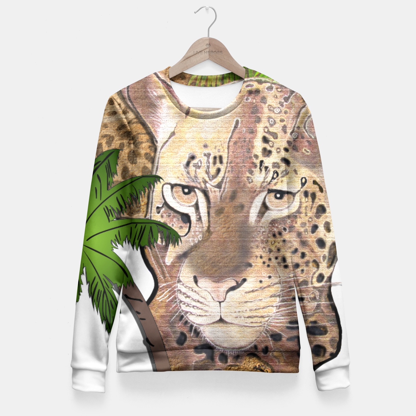 Image of Map of Africa Fitted Waist Sweater - Live Heroes