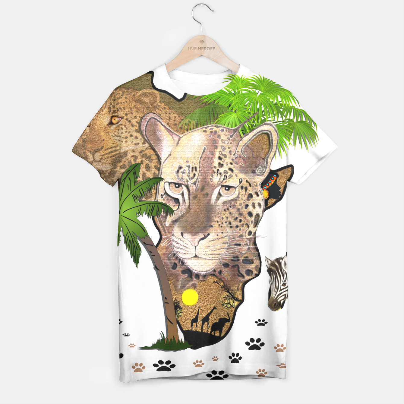 Image of Map of Africa T-shirt - Live Heroes