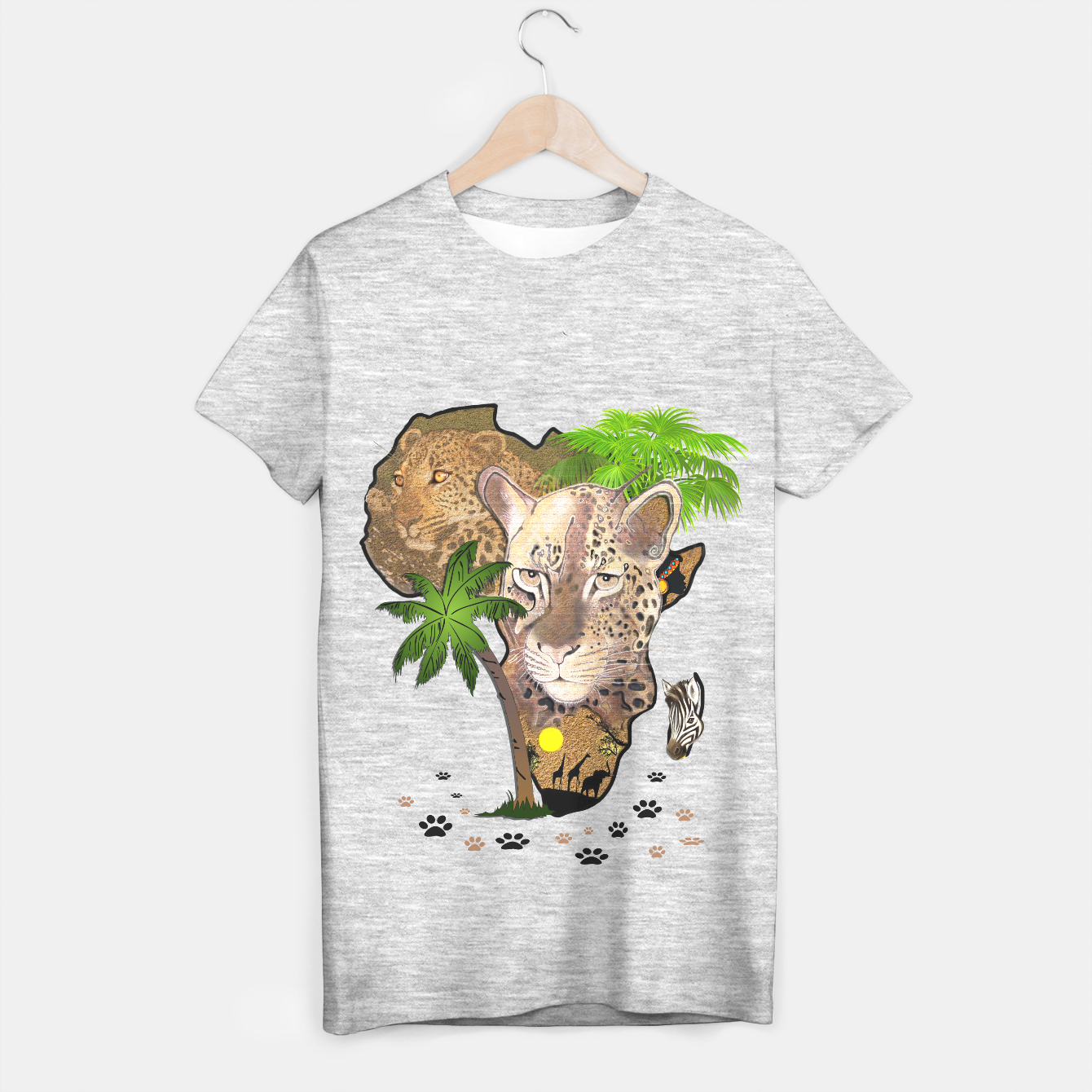 Image of Map of Africa T-shirt regular - Live Heroes