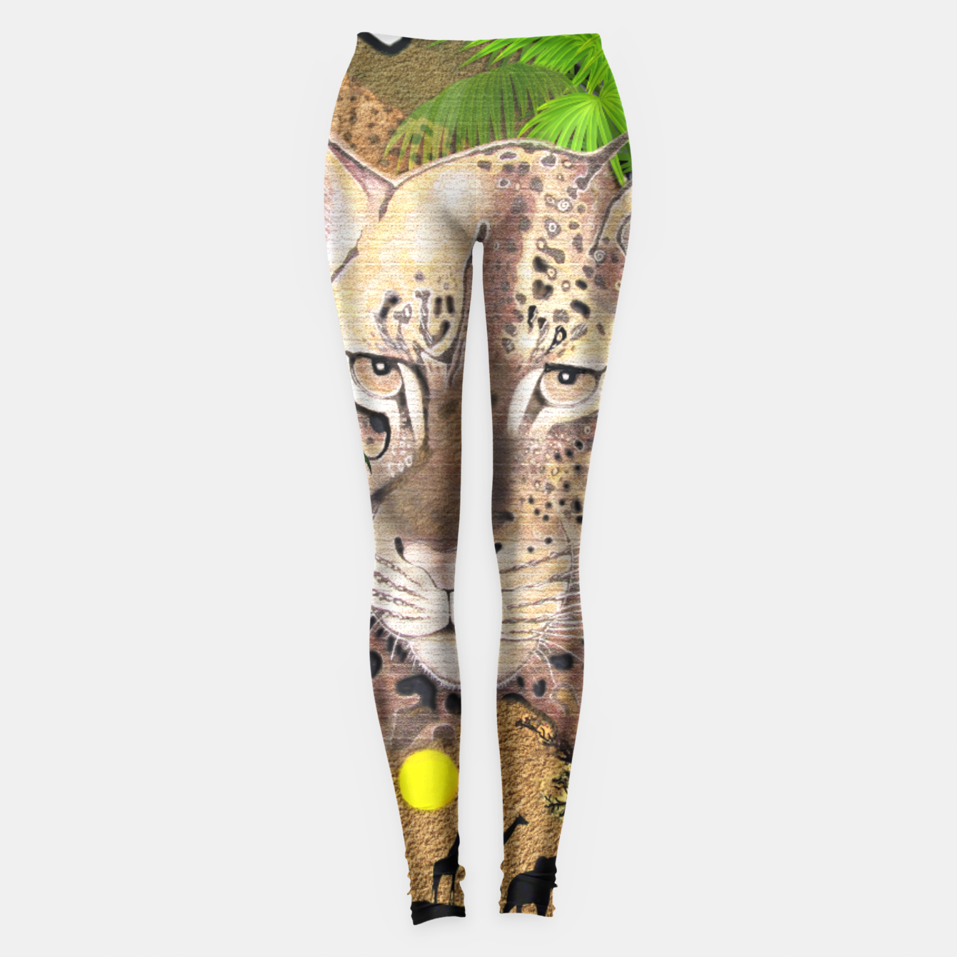 Image of Map of Africa Leggings - Live Heroes