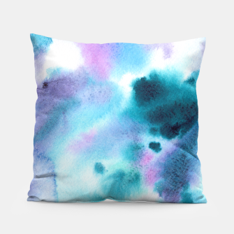Thumbnail image of Turquoise watercolor vibes Pillow, Live Heroes