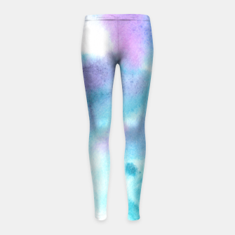 Thumbnail image of Turquoise watercolor vibes Girl's Leggings, Live Heroes