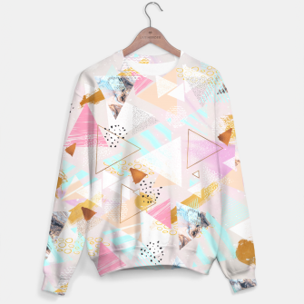 Thumbnail image of Abstract geometric textures and marble Sudadera, Live Heroes