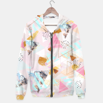 Thumbnail image of Abstract geometric textures and marble Sudadera con capucha, Live Heroes