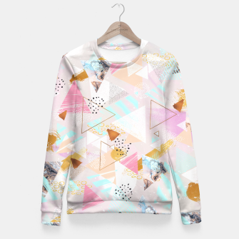 Thumbnail image of Abstract geometric textures and marble Sudadera entallada, Live Heroes