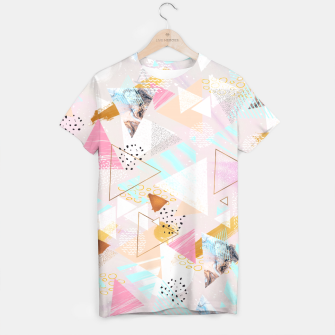 Thumbnail image of Abstract geometric textures and marble Camiseta, Live Heroes