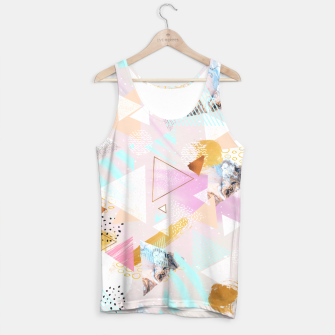 Thumbnail image of Abstract geometric textures and marble Camiseta de tirantes, Live Heroes