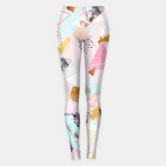 Thumbnail image of Abstract geometric textures and marble Leggings, Live Heroes