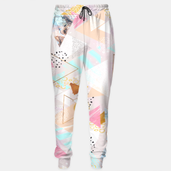 Thumbnail image of Abstract geometric textures and marble Pantalones de chándal, Live Heroes