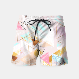 Thumbnail image of Abstract geometric textures and marble Pantalones de baño, Live Heroes