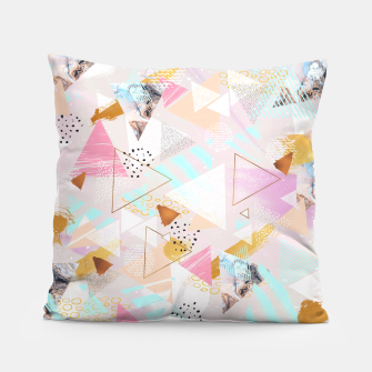 Thumbnail image of Abstract geometric textures and marble Almohada, Live Heroes