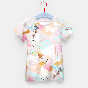 Thumbnail image of Abstract geometric textures and marble Camiseta para niños, Live Heroes