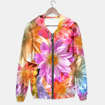 Thumbnail image of Pattern of colorful flowers Hoodie, Live Heroes