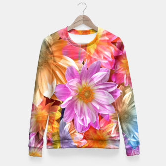 Thumbnail image of Pattern of colorful flowers Fitted Waist Sweater, Live Heroes