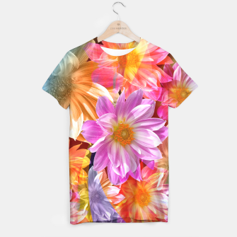 Thumbnail image of Pattern of colorful flowers T-shirt, Live Heroes