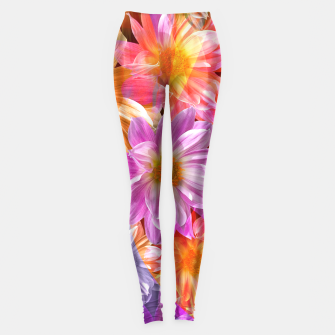 Thumbnail image of Pattern of colorful flowers Leggings, Live Heroes
