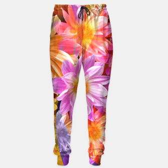 Thumbnail image of Pattern of colorful flowers Sweatpants, Live Heroes