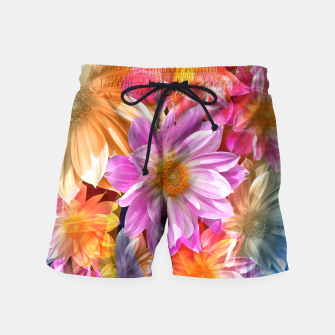 Thumbnail image of Pattern of colorful flowers Swim Shorts, Live Heroes