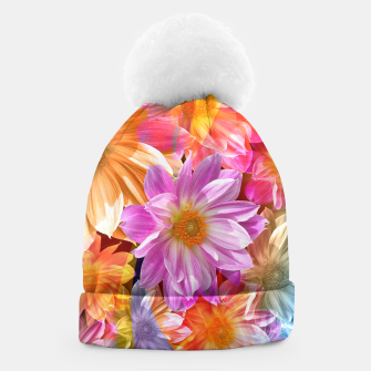Thumbnail image of Pattern of colorful flowers Beanie, Live Heroes