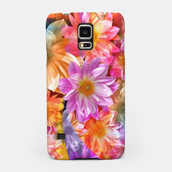 Thumbnail image of Pattern of colorful flowers Samsung Case, Live Heroes