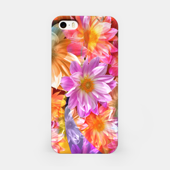 Thumbnail image of Pattern of colorful flowers iPhone Case, Live Heroes