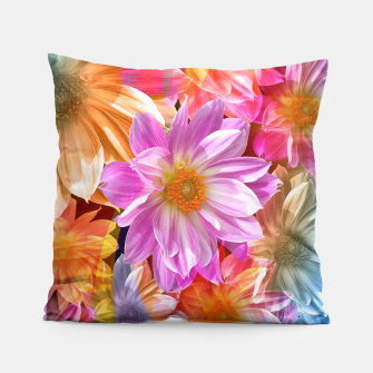 Thumbnail image of Pattern of colorful flowers Pillow, Live Heroes
