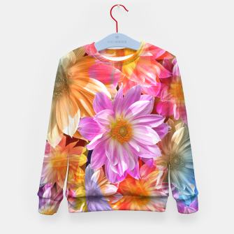 Thumbnail image of Pattern of colorful flowers Kid's Sweater, Live Heroes