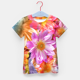 Thumbnail image of Pattern of colorful flowers Kid's T-shirt, Live Heroes
