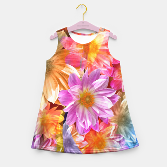 Thumbnail image of Pattern of colorful flowers Girl's Summer Dress, Live Heroes