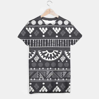 Thumbnail image of Black-White Ethno Pattern T-Shirt, Live Heroes