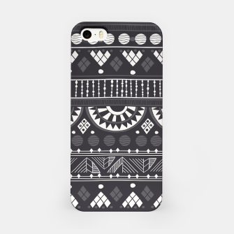 Thumbnail image of Black-White Ethno Pattern iPhone-Hülle, Live Heroes