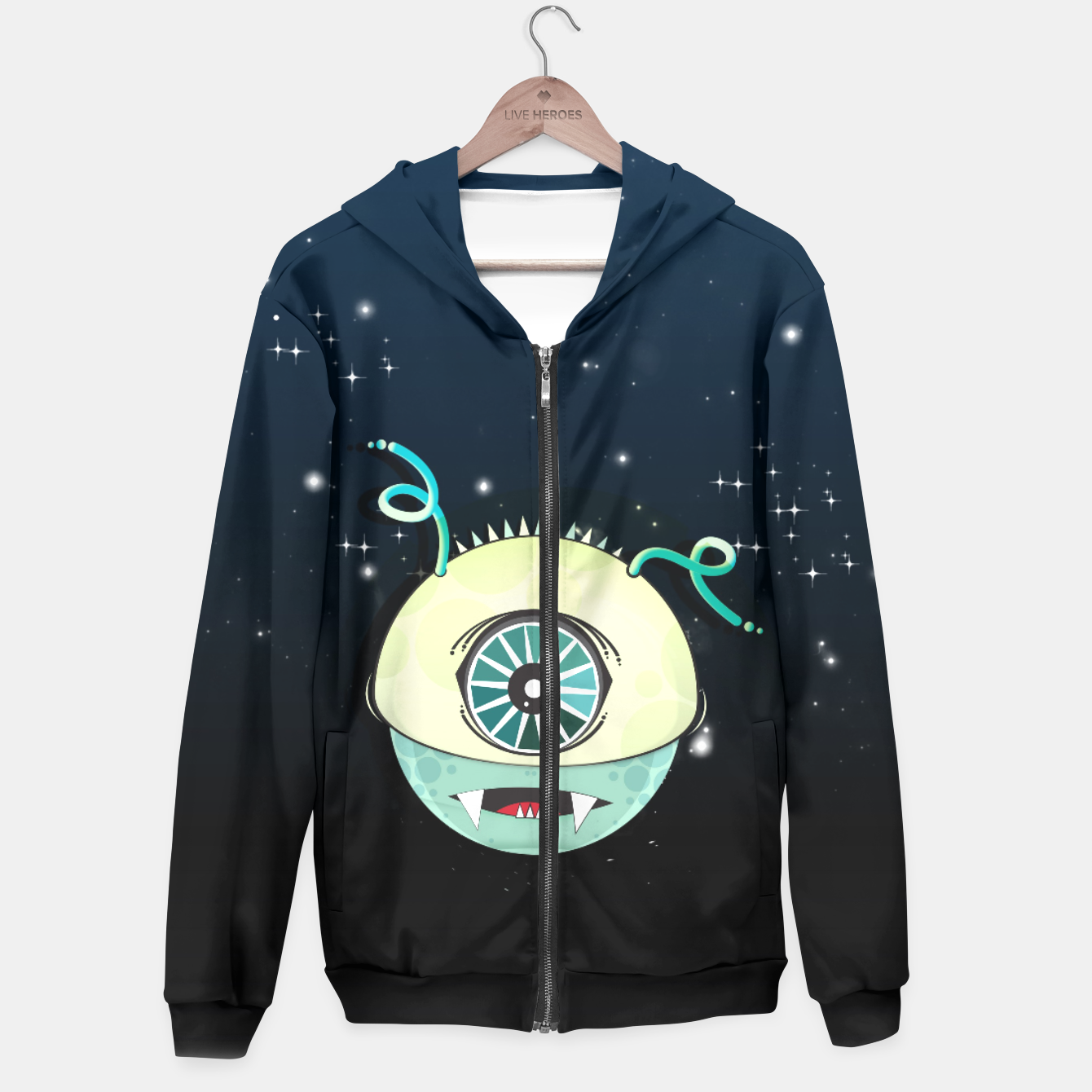 Image of From Space Sudadera con capucha - Live Heroes