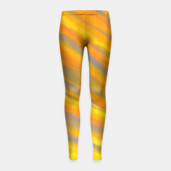 Thumbnail image of Canary Yellow Girl's Leggings, Live Heroes