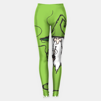 Thumbnail image of Ganjalf the Green  Leggings, Live Heroes