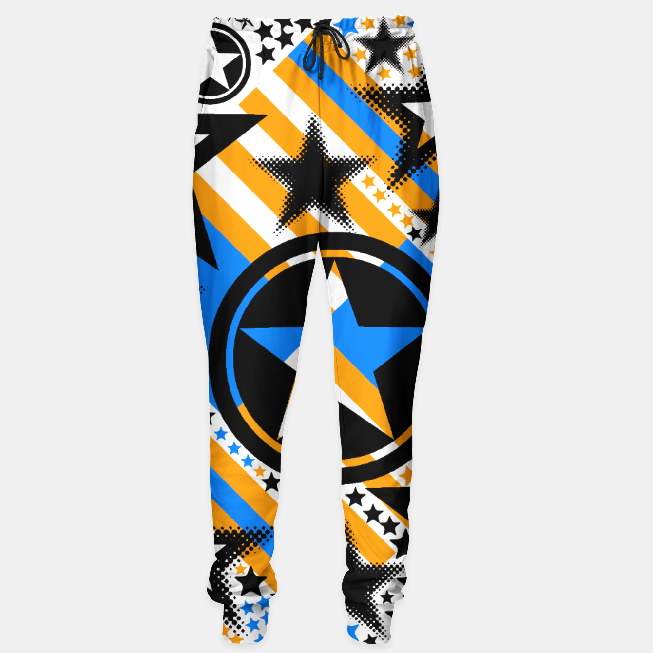 Image of BLACK GOLD AND BLUE-STARS 2 Sweatpants - Live Heroes