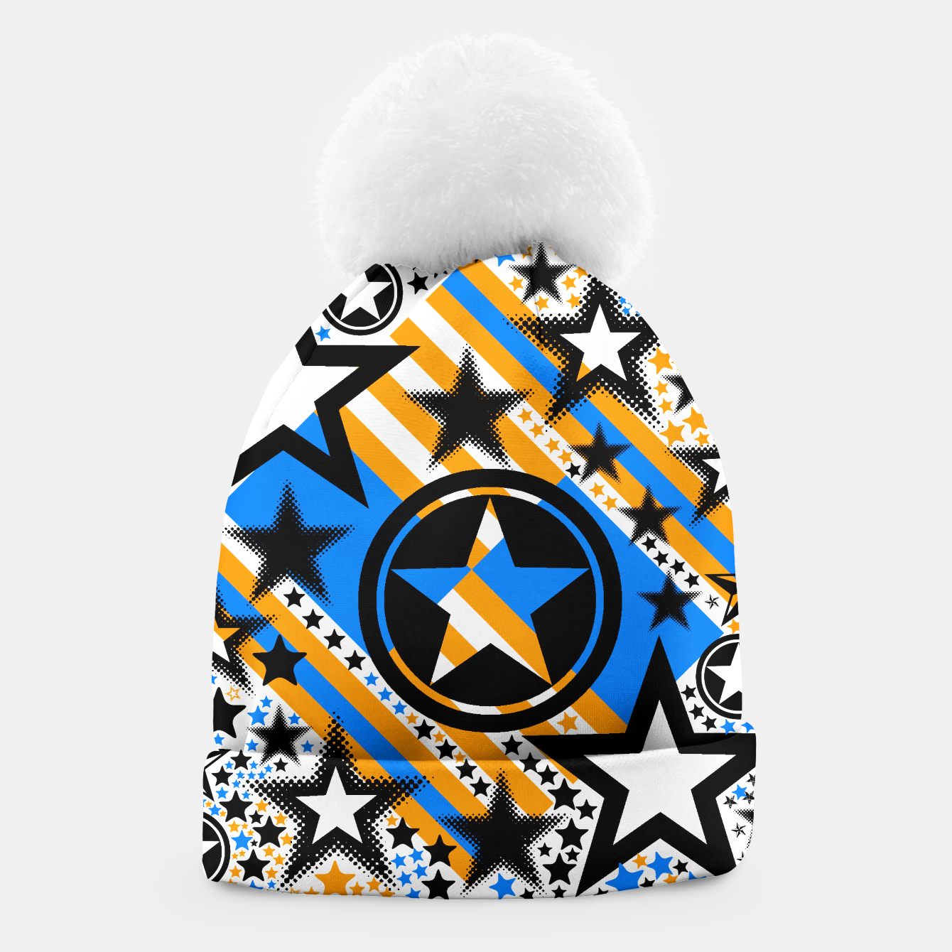 Image of BLACK GOLD AND BLUE-STARS 2 Beanie - Live Heroes