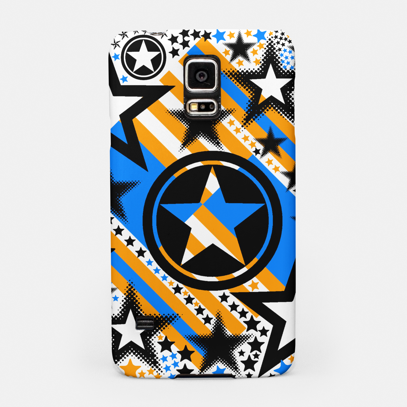 Image of BLACK GOLD AND BLUE-STARS 2 Samsung Case - Live Heroes
