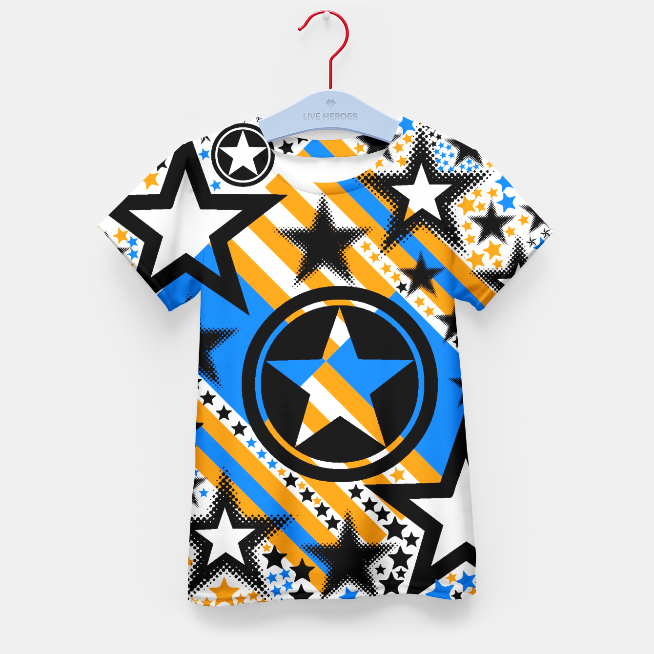 Image of BLACK GOLD AND BLUE-STARS 2 Kid's T-shirt - Live Heroes