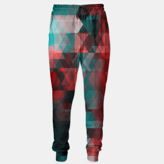 Thumbnail image of pixel green red Sweatpants, Live Heroes