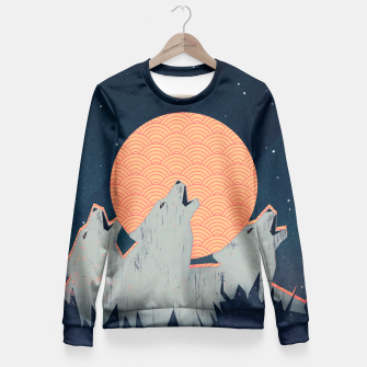 Thumbnail image of Howling Moon Taillierte Sweatshirt, Live Heroes