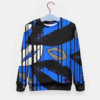 Thumbnail image of Dripping With Kisses Blue Kid's Sweater, Live Heroes