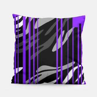 Thumbnail image of Sexy Purple Zebra Print  Pillow, Live Heroes