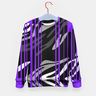 Thumbnail image of Sexy Purple Zebra Print  Kid's Sweater, Live Heroes